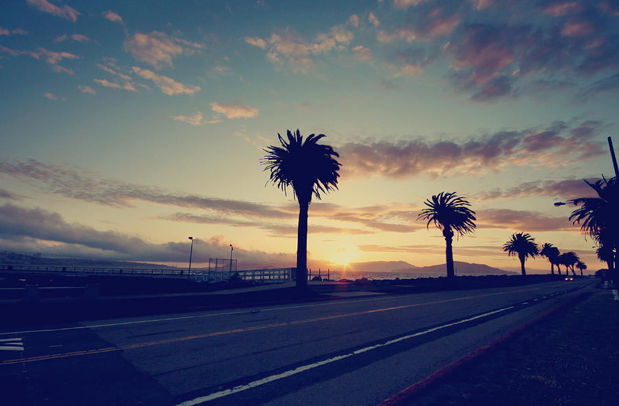 Treasure Island Photograph - Sunset Drive by Laurie Search