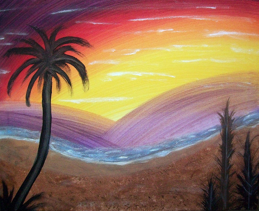 Abstract Painting - Sunset Escape by Lora Mercado