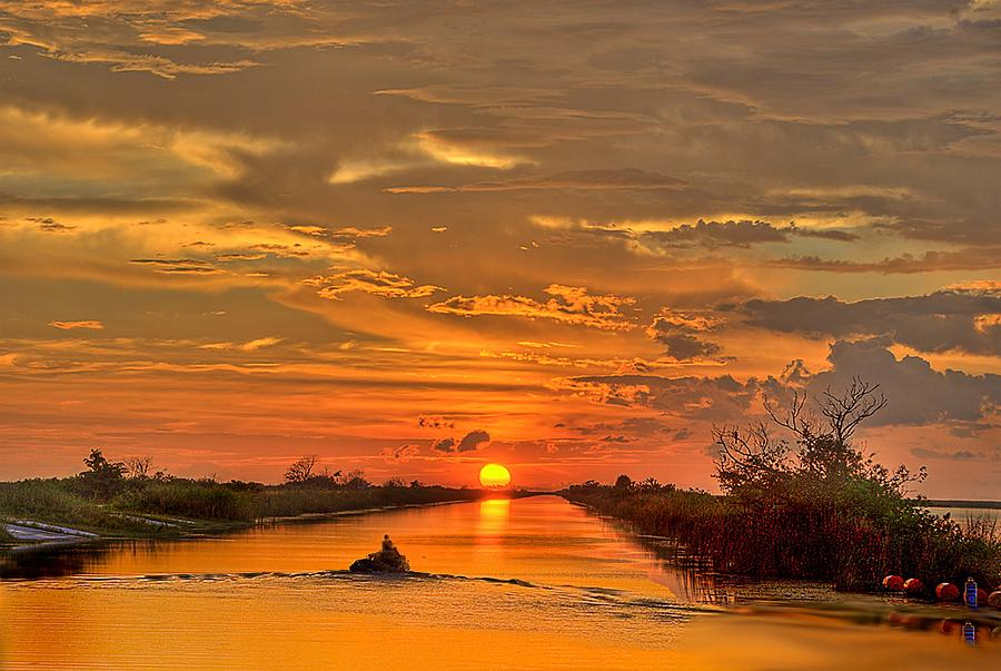 Sunset Photograph - Sunset Everglades by Bob Mulligan