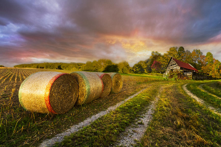 Appalachia Photograph - Sunset Farm by Debra and Dave Vanderlaan