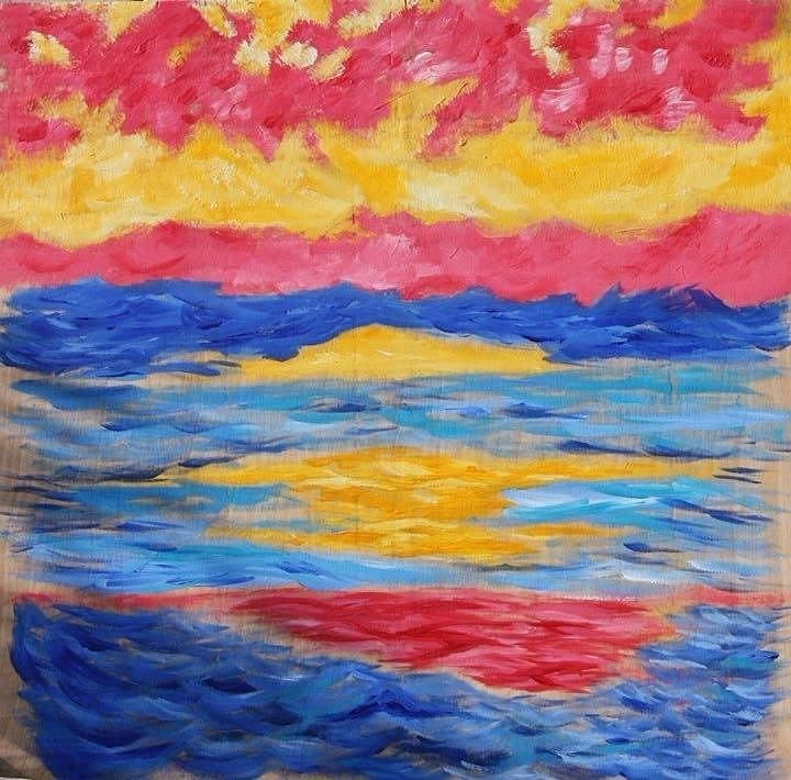 Painting Painting - Sunset by Felicia Roberts