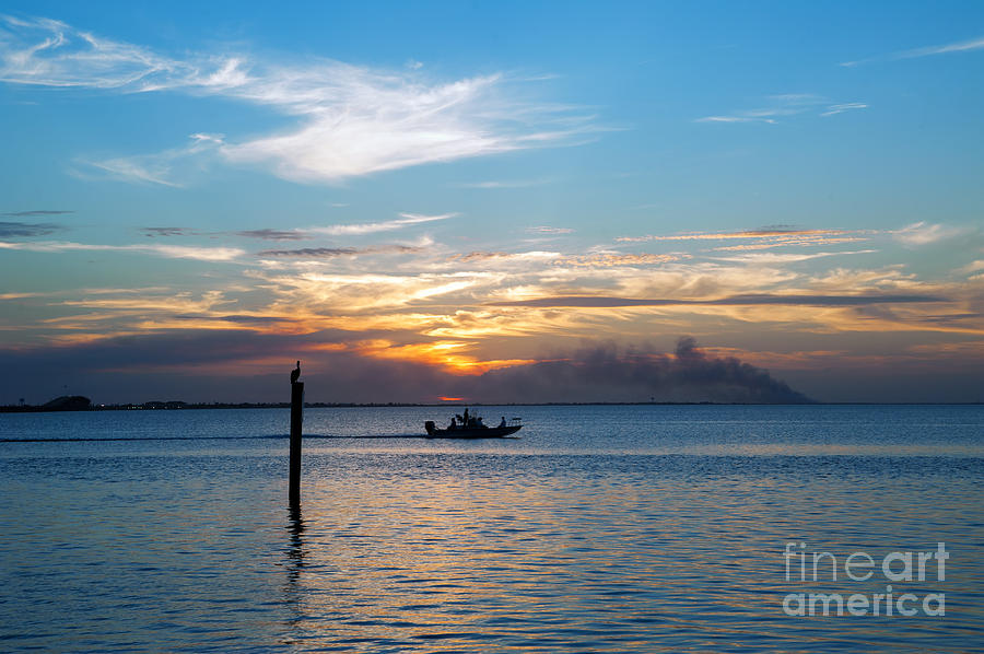 Sunset Photograph - Sunset Fishing by Tammy Smith
