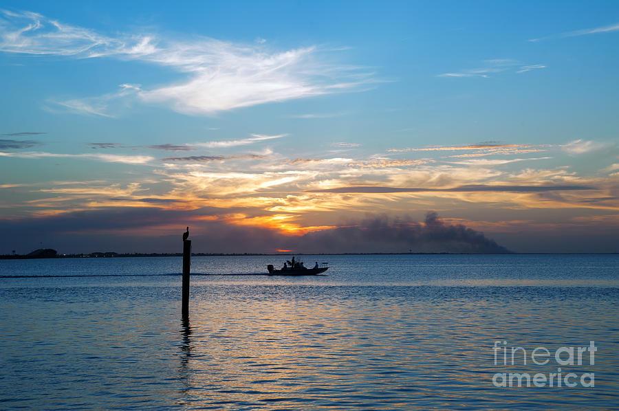 Sunset Photograph - Sunset Fishing by Tammy Smith