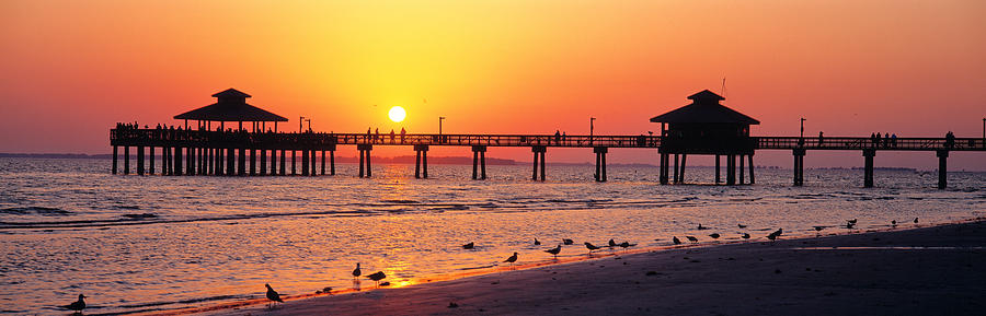 Sunset Fort Myers Beach Fl Usa Photograph By Panoramic Images