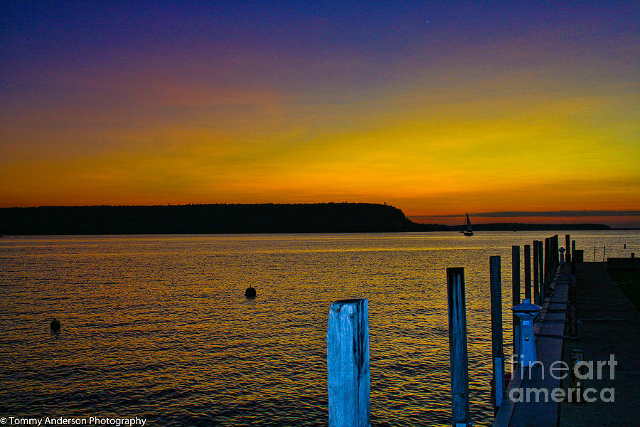 Sunset Photograph - Sunset From Andersons Dock by Tommy Anderson
