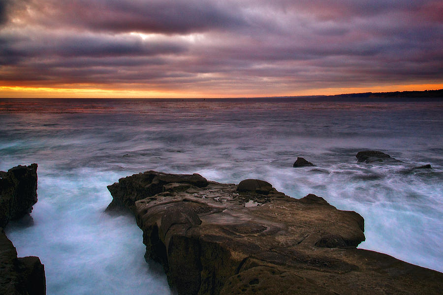 Sunset from La Jolla Cove by Joseph Urbaszewski