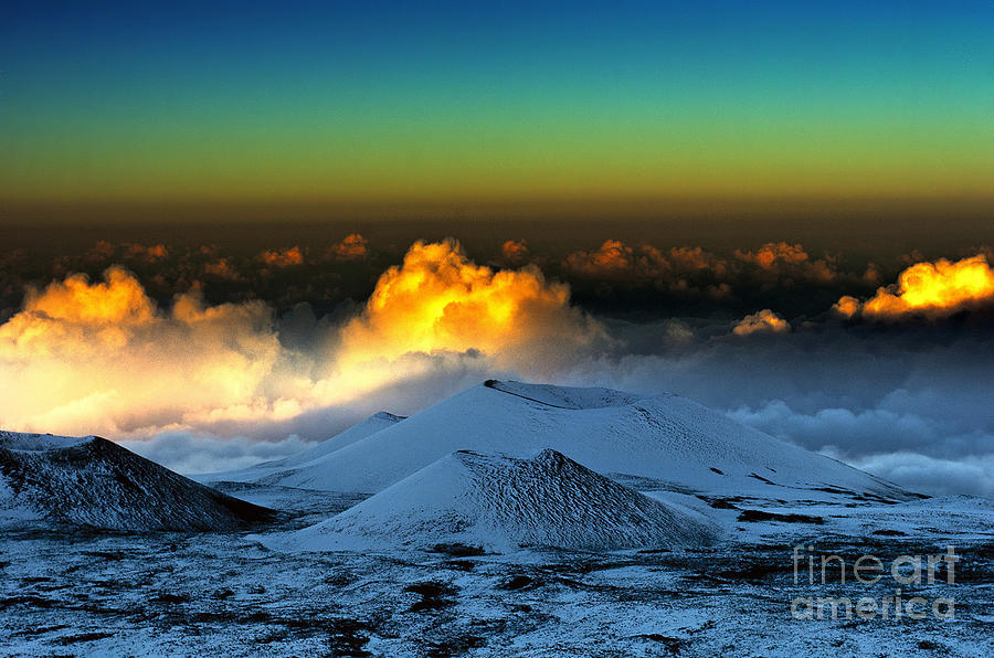 Landscape Photograph - Sunset From Mauna Kea by Karl Voss