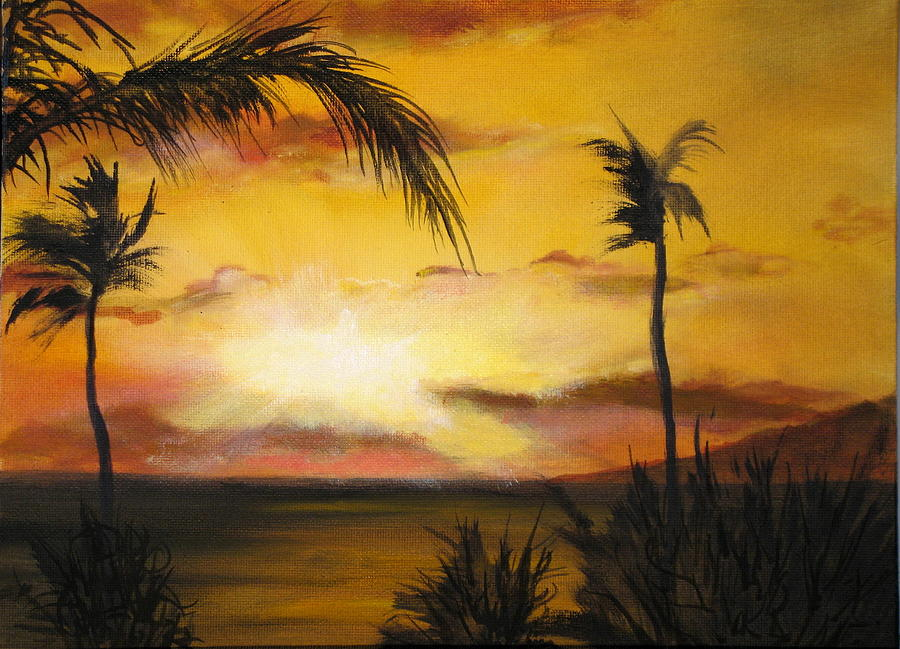 Sunset Painting - Sunset from the balconey by Thomas Restifo