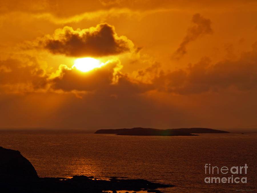 Landscape Photograph - Sunset From The Dolphin Watch Cottage by Patricia Griffin Brett