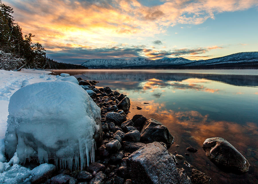 Sunset Frozen by Aaron Aldrich