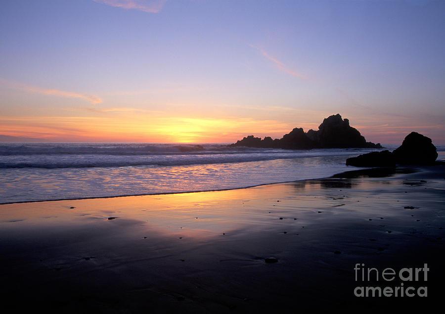 Sunset Gold Big Sur Photograph