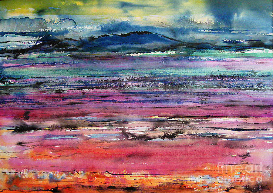 Watercolor Painting - Sunset by Gwen Nichols