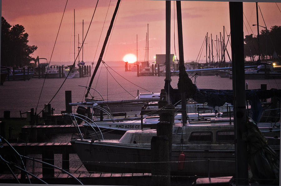 Harbor Photograph - Sunset Harbor by Kelly Reber
