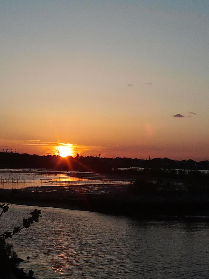 Sunset Photograph - Sunset In Bayonne by Anastasia Konn