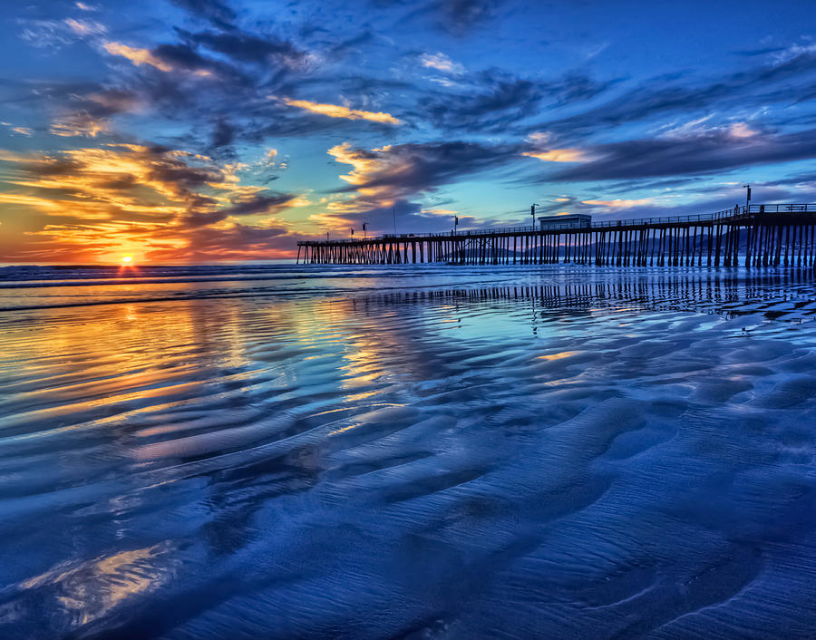 Pismo Beach Photograph - Sunset In Blue by Beth Sargent