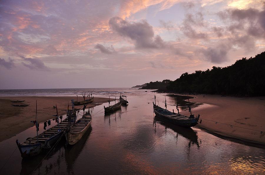 Sunset Photograph - Sunset In Ghana by Manu G