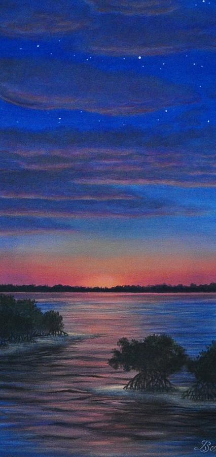 Sunset Painting - Sunset In Islamorada by J Barth
