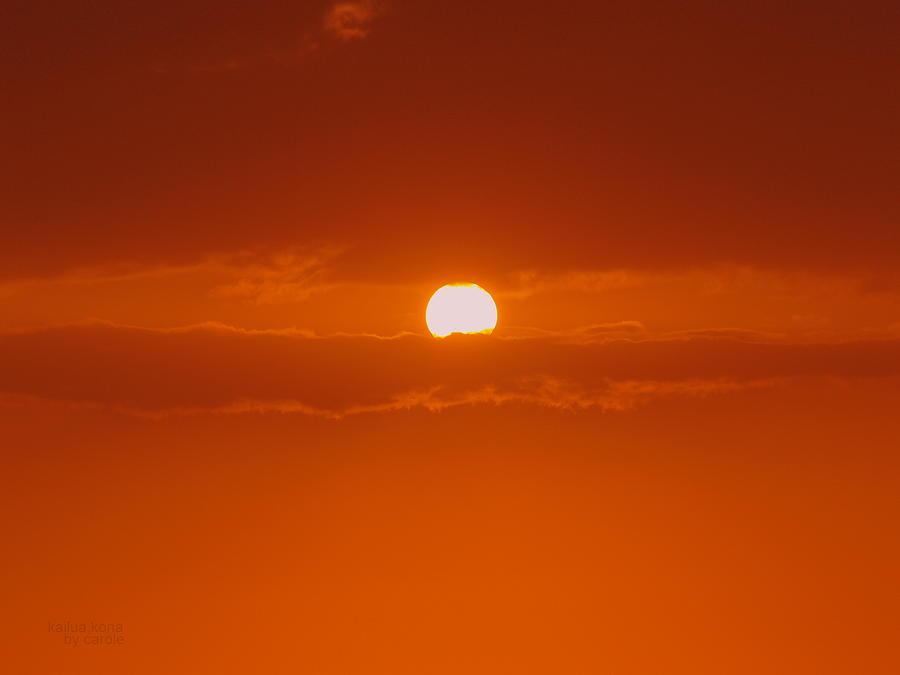 Sun Rise Photograph - Sunset In Kona by Athala Carole Bruckner