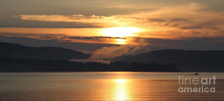 Sunset In Meredith New Hampshire Photograph