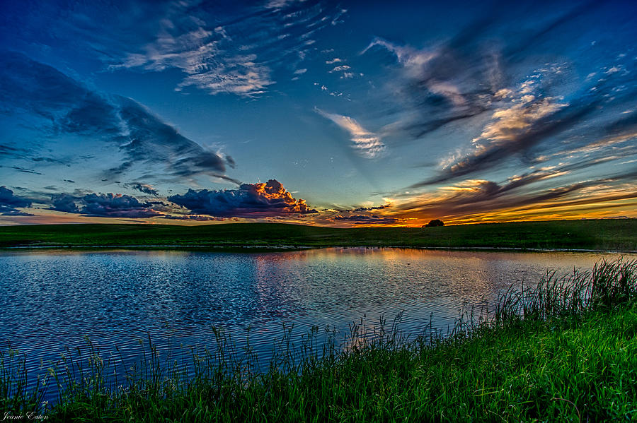 Montana Photograph - Sunset In Montana by Jeanie Eaton