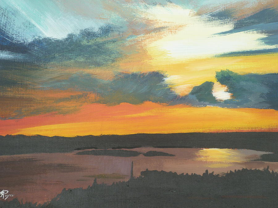 Sunset Painting - Sunset In Motion by Lori Royce