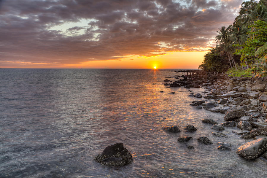 Sunset Photograph - Sunset In Paradise by Alexey Stiop