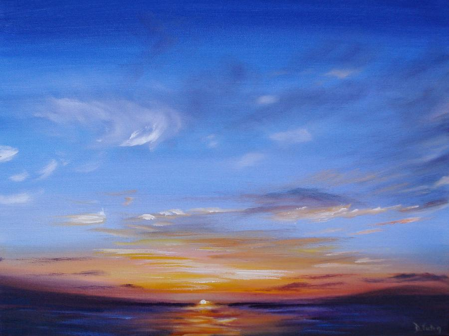Tropical Sunset Painting - Sunset In Paradise by Donna Tuten