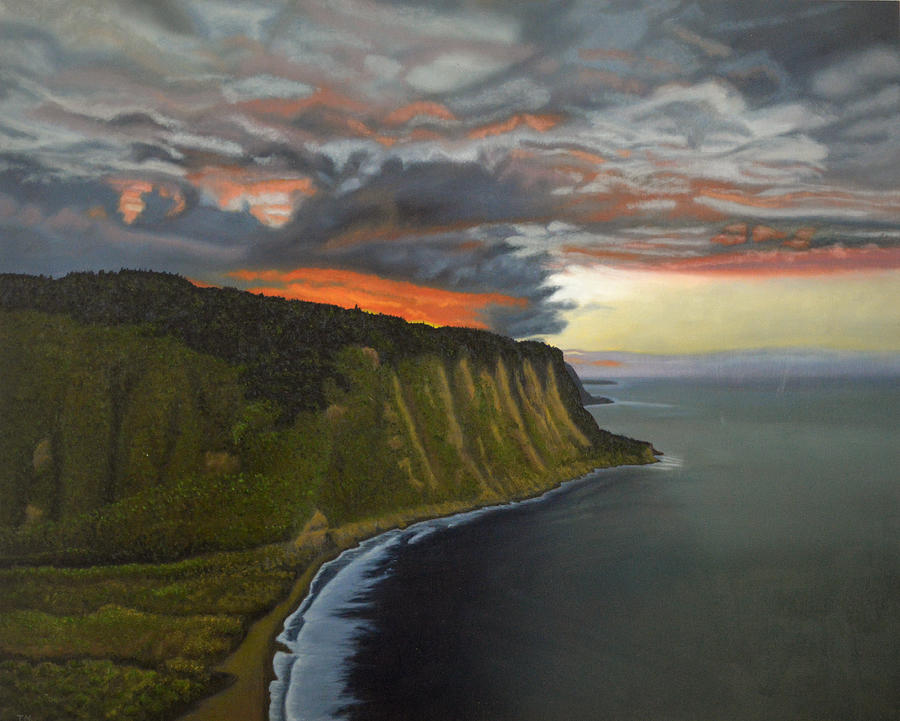 Waipio Lookout Painting - Sunset In Paradise by Thu Nguyen