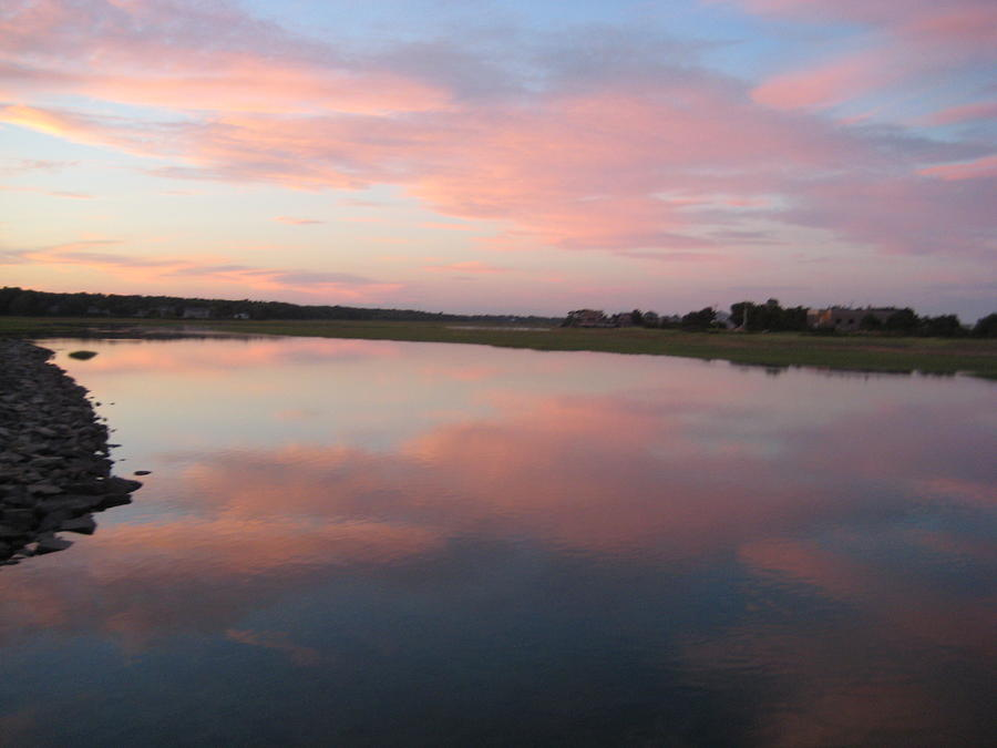 Landscape Photograph - Sunset In Pink And Blue by Melissa McCrann