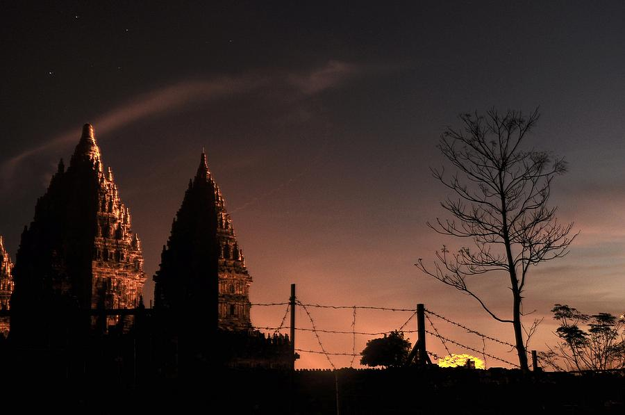 Temple Photograph - Sunset In Prambanan by Achmad Bachtiar