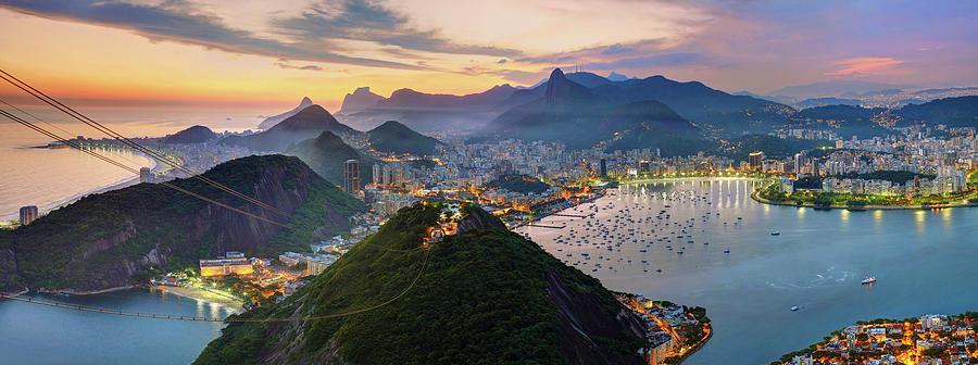 Sunset In Rio De Janeiro Photograph by Anna Gibiskys