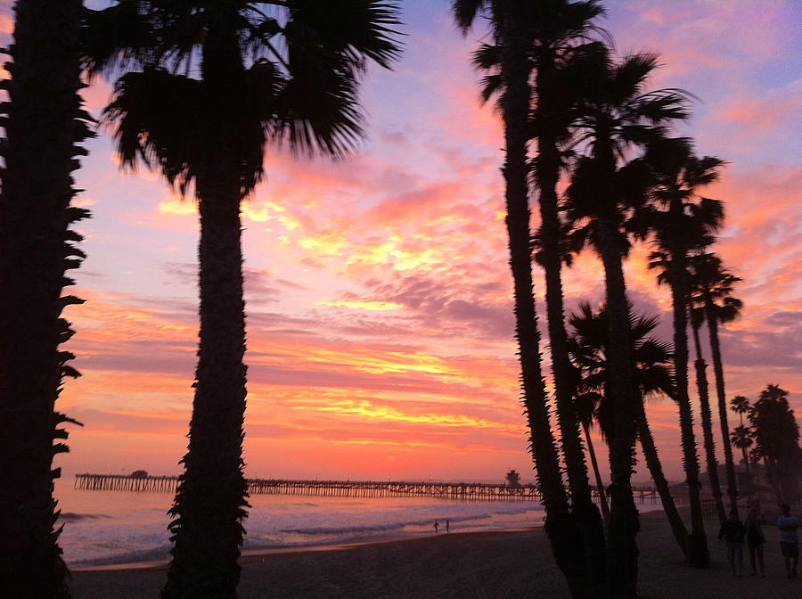 Sunset In San Clemente Photograph by Paul Carter
