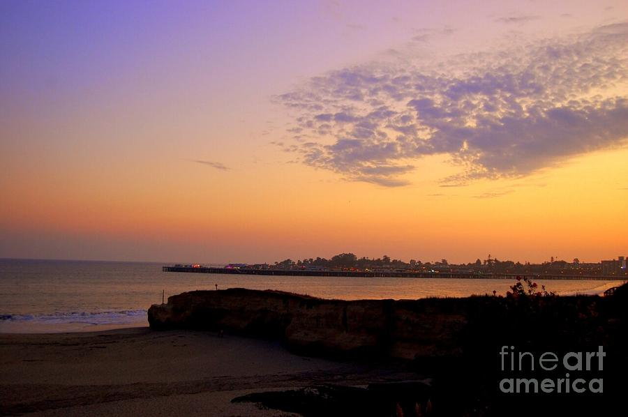Santa Cruz Photograph - Sunset In Santa Cruz California  by Garnett  Jaeger