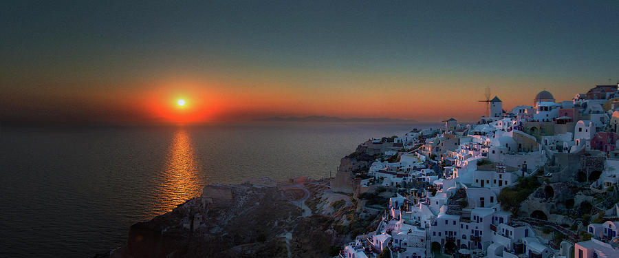 Sunset In Santorini, Greece Photograph by Ed Freeman