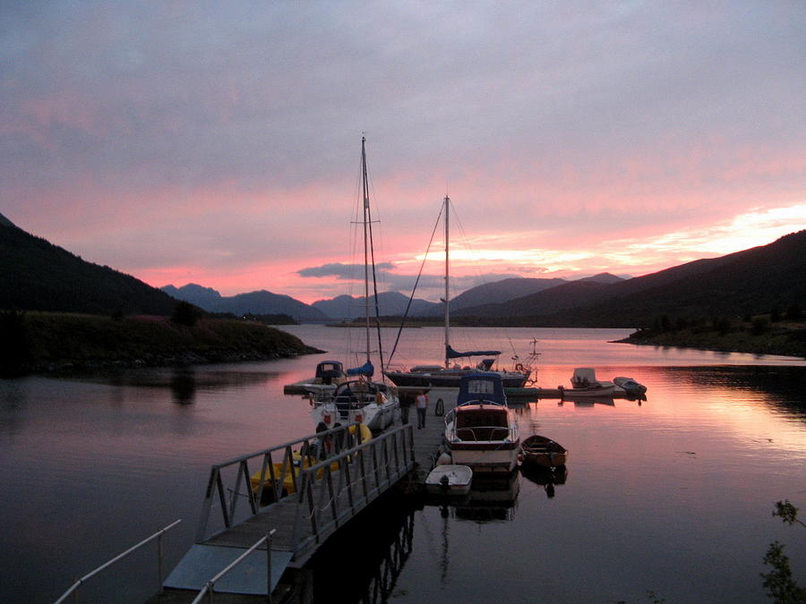 Sunset In Scotland Photograph by Joyce Woodhouse