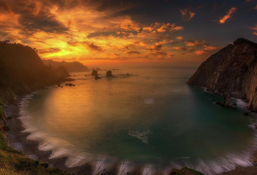 Landscape Photograph - Sunset In Silence by Alfonso Maseda Varela