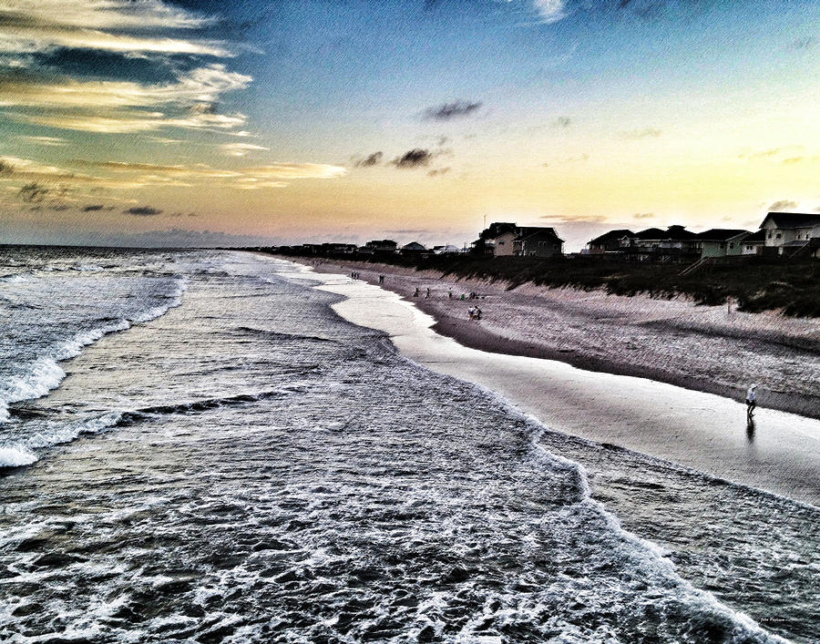 Sunset in Surf City by John Pagliuca