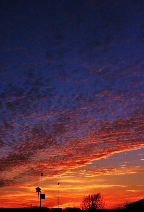 Sunset Photograph - Sunset In The Clouds by David Pauley
