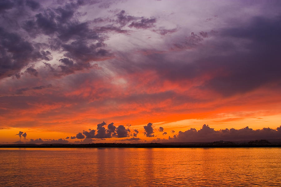 sunset in the Guadiana river Photograph