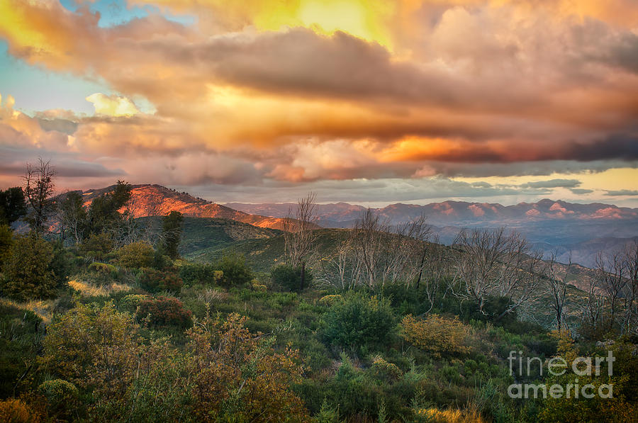Sunset In The Mountains Photograph