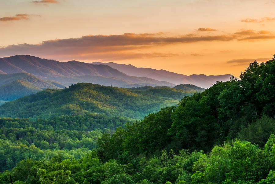 Smoky Mountains Photograph - Sunset In The Smokys by Paul Johnson