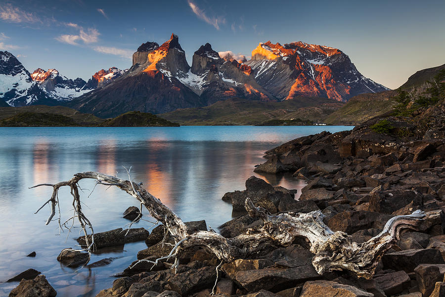 Sunset in Torres del Paine National Park,  Chile Photograph by Anton Petrus
