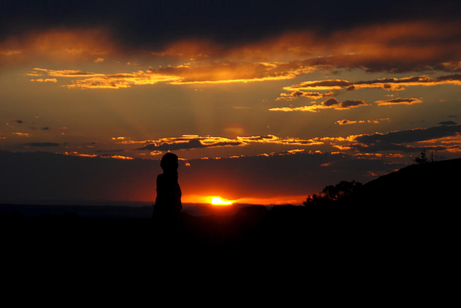 Silhouette Photograph - Sunset In Utah by Tracy Winter