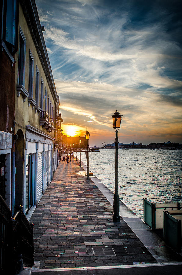 Venice Photograph - Sunset In Venice by Stefan Hoareau