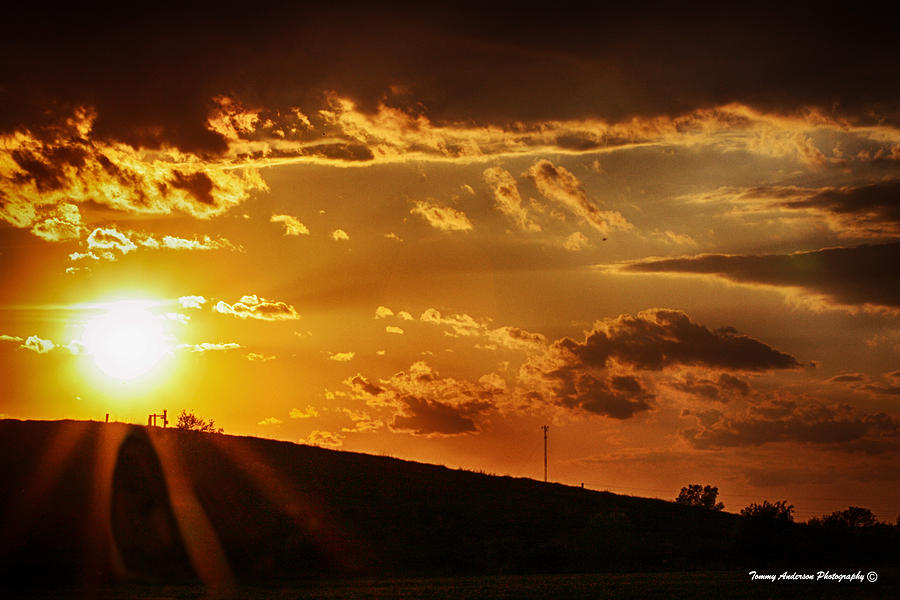 Sunset Photograph - Sunset In Vernon County by Tommy Anderson