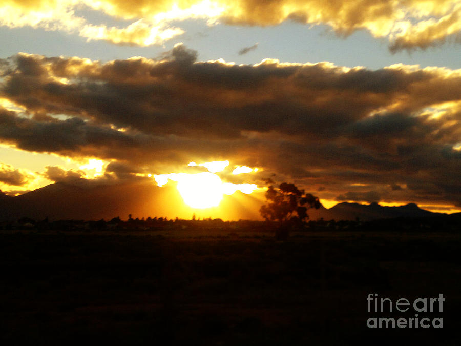 Sunset Photograph - Sunset In Worcerster by Willinda Swart