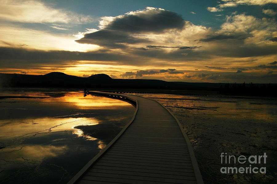 Yellowstone Photograph - Sunset In Yellow Stone by Jeff Swan
