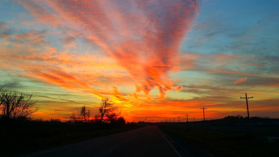 Sunset Photograph - Sunset Iowa by Kendra Sorum