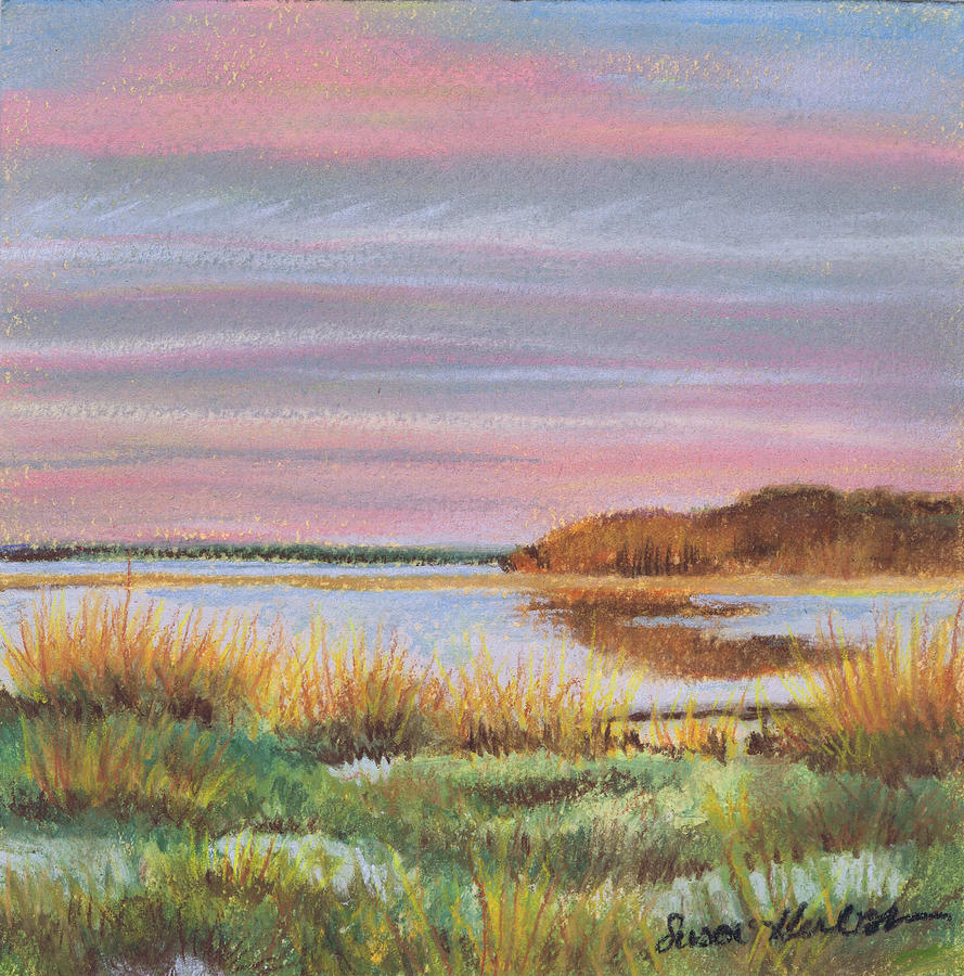 Beach Painting - Sunset Jessups Neck by Susan Herbst
