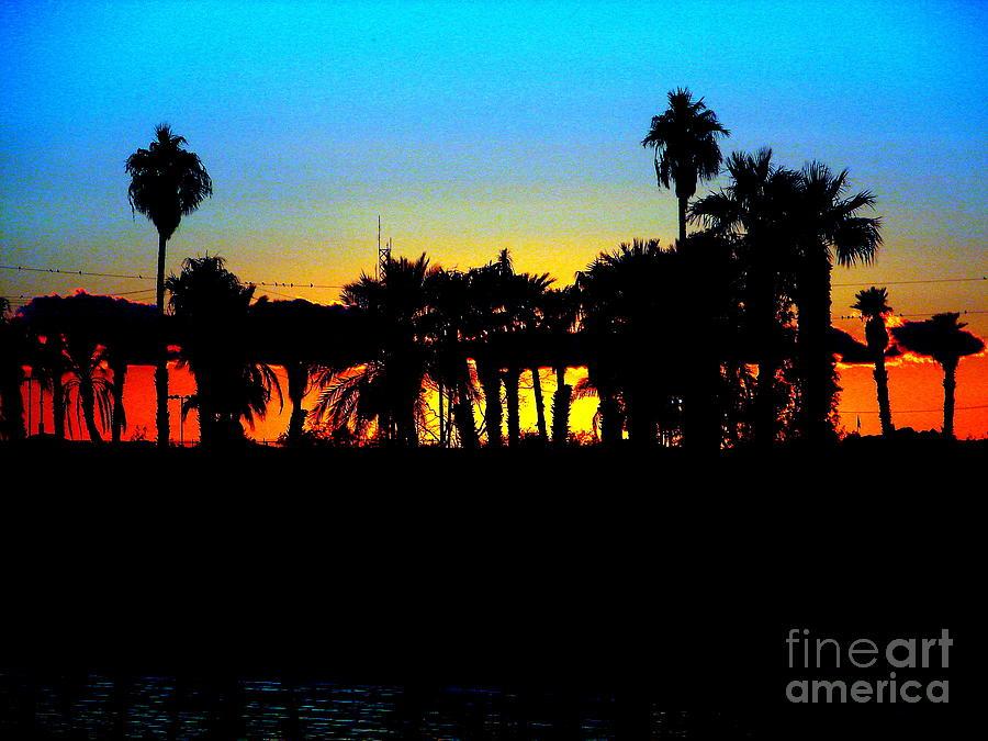 Sunset Photograph - Sunset Lake Havasu by John Potts